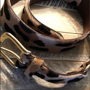 Calvin Klein... fur and leather belt